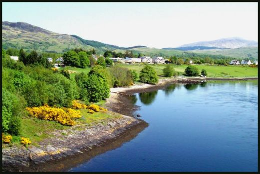 View from the Connel Bridge, north of Oban, Scotland