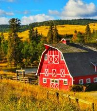 Red Barn in the Valley...