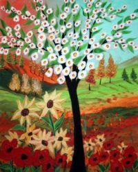 Flower Tree by Luiza Vizoli on etsy