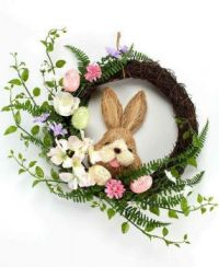 Easter Wreath with bunny