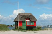 Beach hut, Ærø, Denmark