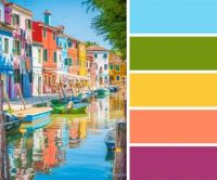 Bright Buildings by the Water