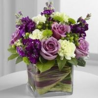 Happiness is......Gorgeous Purple and Cream Bouquet