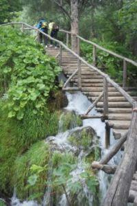 Lots of water flow under this bridge in Plitvice National Park, Croatia