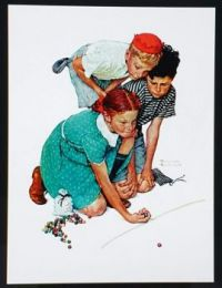 MARBLE CHAMP  1939,  NORMAN ROCKWELL