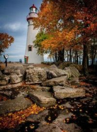 Fall At Marblehead Lighthouse