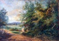 Selsdon Road under Croham Hurst, Croydon, Surrey by Walter William Acock