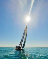 Noelle Sinclair took this photo while sailing on Lake Balaton, Hungary.