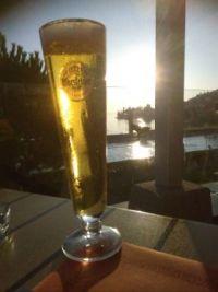 Un petit verre au bord du lac Léman