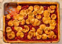 xstrawberry slab pie
