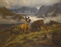 """Auguste Bonheur, """"Le combat, souvenier des Pyrenees"""", 1862"""