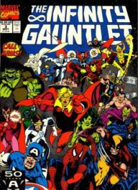 Theme #3: Comic Book Covers: Infinity Gauntlet #5 (September, 1991)