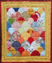 Easter Eggheads Quilt - 56
