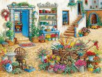 Fancy Flower Shop by Janet Kruskamp