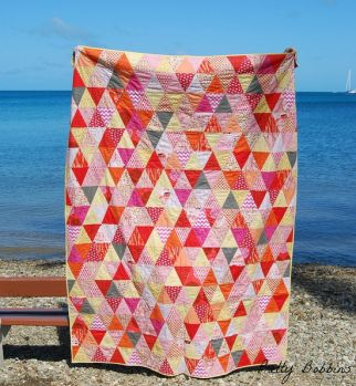 triangles by the sea quilt