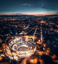 Drone view of COLOSSEUM