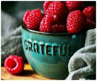 A Grateful Bowl of Red Raspberries