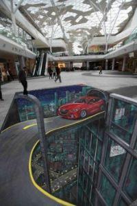 3D Street art.......Mazda