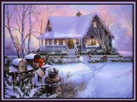 Country Home In Snow