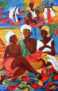 Caribbean Art - by Ronnie Biccard   'Untitled' (2)