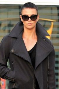 Charlize Theron in a snazzy jacket, too