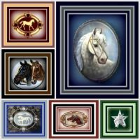 Weekly Theme - Horses - Vintage Horse Booches