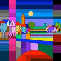 Village full of colors.