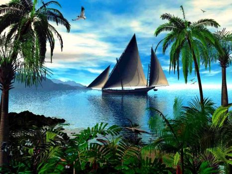 3D-Animated-Background-for-Desktop-Sailboat