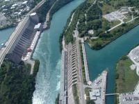 Canadian & American hydro stations on the Niagara River