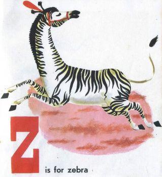 Safari Animals Zebra From Circus Alphabet Book