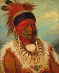 George Catlin (American, 1796–1872) White Cloud, Head Chief of the Iowas (1844/45)