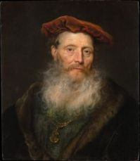 Govert Flinck, Bearded Man with a Velvet Cap (1645)