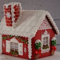 Really cool Christmas gingerbread house