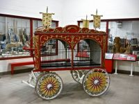 Wagon on Display in the Restoration Building