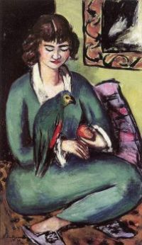 Girl with Parrot  - Max Beckmann
