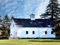 White Barn with Cupola