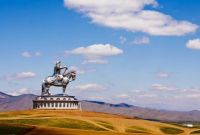 Statue of Genghis Khan in Mongolia