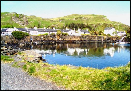 Lovely village on the Island of Seil, Scotland