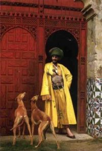 Jean-Léon Gérôme  Two hounds