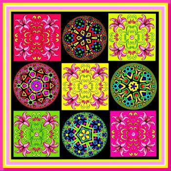 Kaleido circles & squares