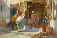 Francesco Ballesio (1860 - 1923)-BUYING A CARPET