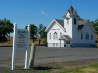 Front of Country Bible Church, Dusty, Wa.