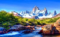 Mountain-scenery-with-snow-covered-river-rocks-beautiful-Hd-wallpaper
