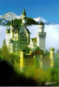 Neuschwanstein,King Ludwig's Castle in Baveria,Germany.