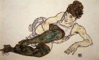 11.-Egon-Schiele-Reclining-Woman-with-Green-Stockings-1917
