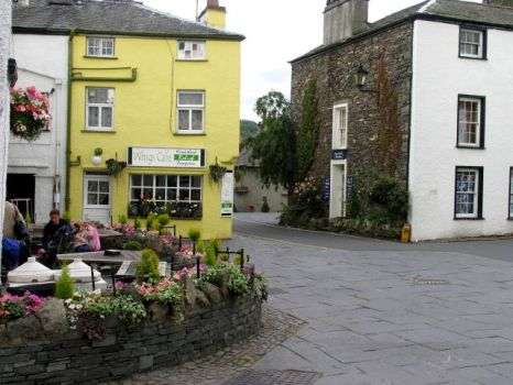 Hawkshead Village Centre, Cumbria.  Photo by Pam Brophy
