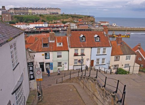 The Church Stairs a 199 steps in all, Whitby, North Yorkshire.  Photo by wfmillar