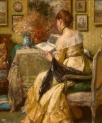 Peaceful Reading. Fernand Toussaint