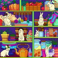 Shelves Full of Rabbits