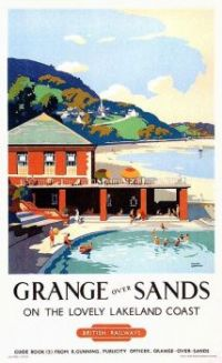Vintage British Railways poster - Grange Over Sands